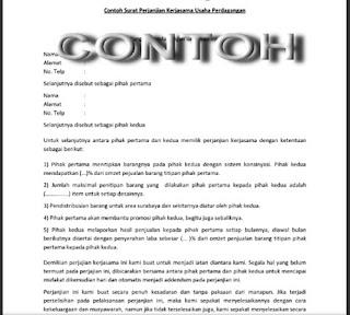 Surat perjanjian kerja sama usaha