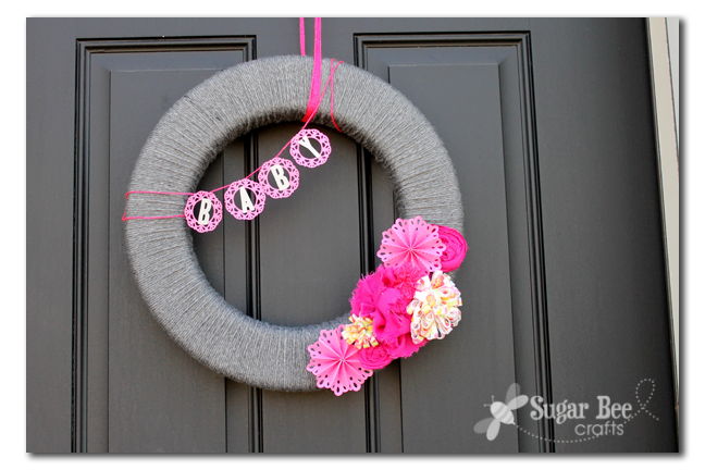 baby shower wreath interchangeable sugar bee crafts