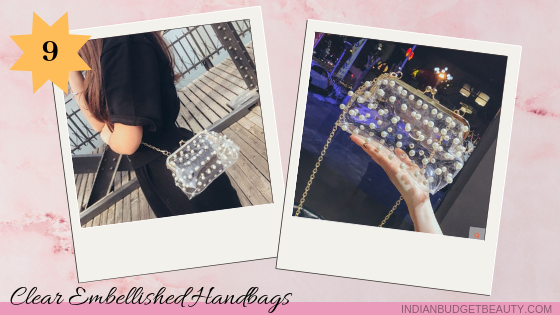 Clear Embellished Handbags