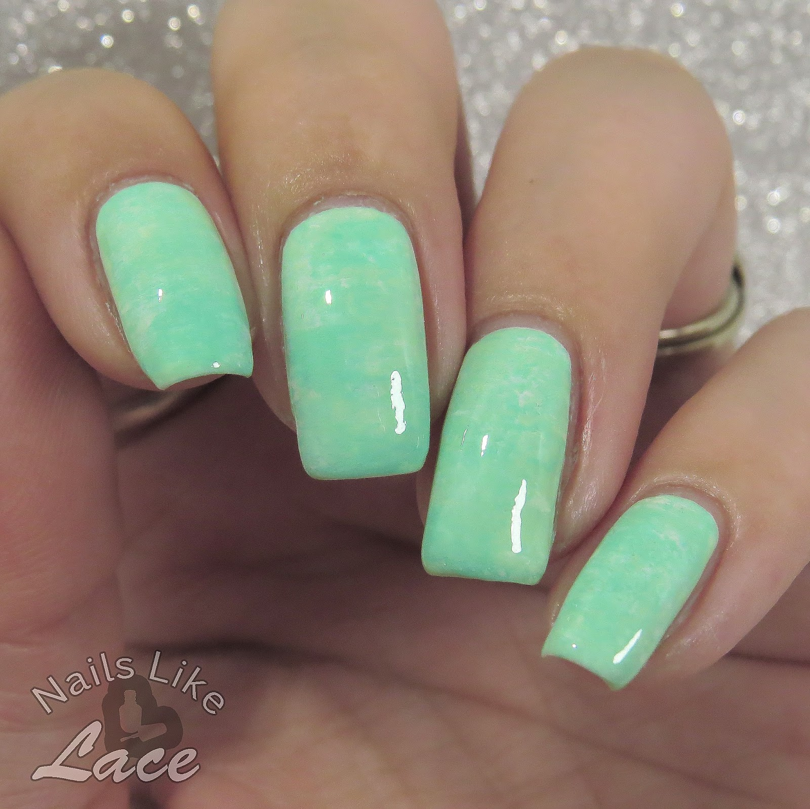 Mint Green Prom Nail: NailsLikeLace: 40 Great Nail Art Ideas: Mint Green
