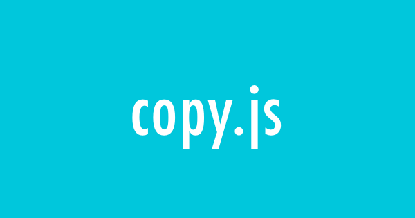 copy.js - simple copy text to clipboard in the browser