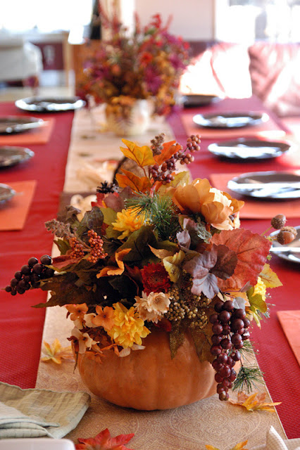 Party with a k the blog november 2012 - Thanksgiving dinner table decorations ...