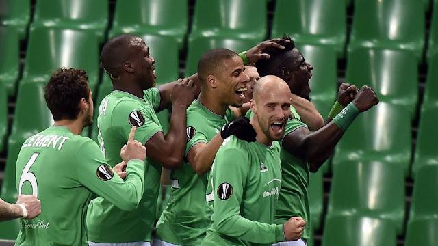 Les Verts fêtent un but en fin de match
