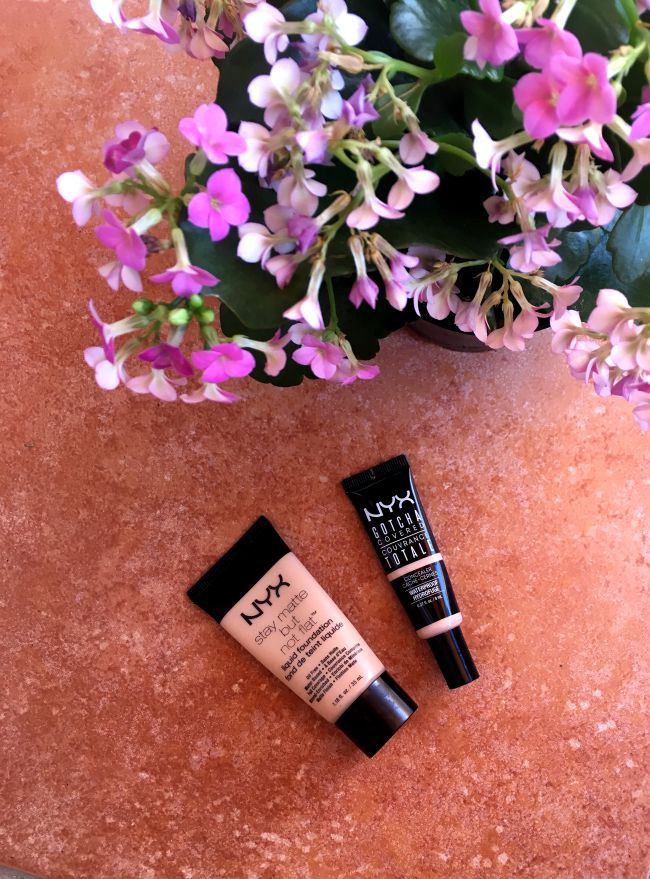 Review: NYX Gotcha Covered Concealer & Stay matte but not flat liquid foundation