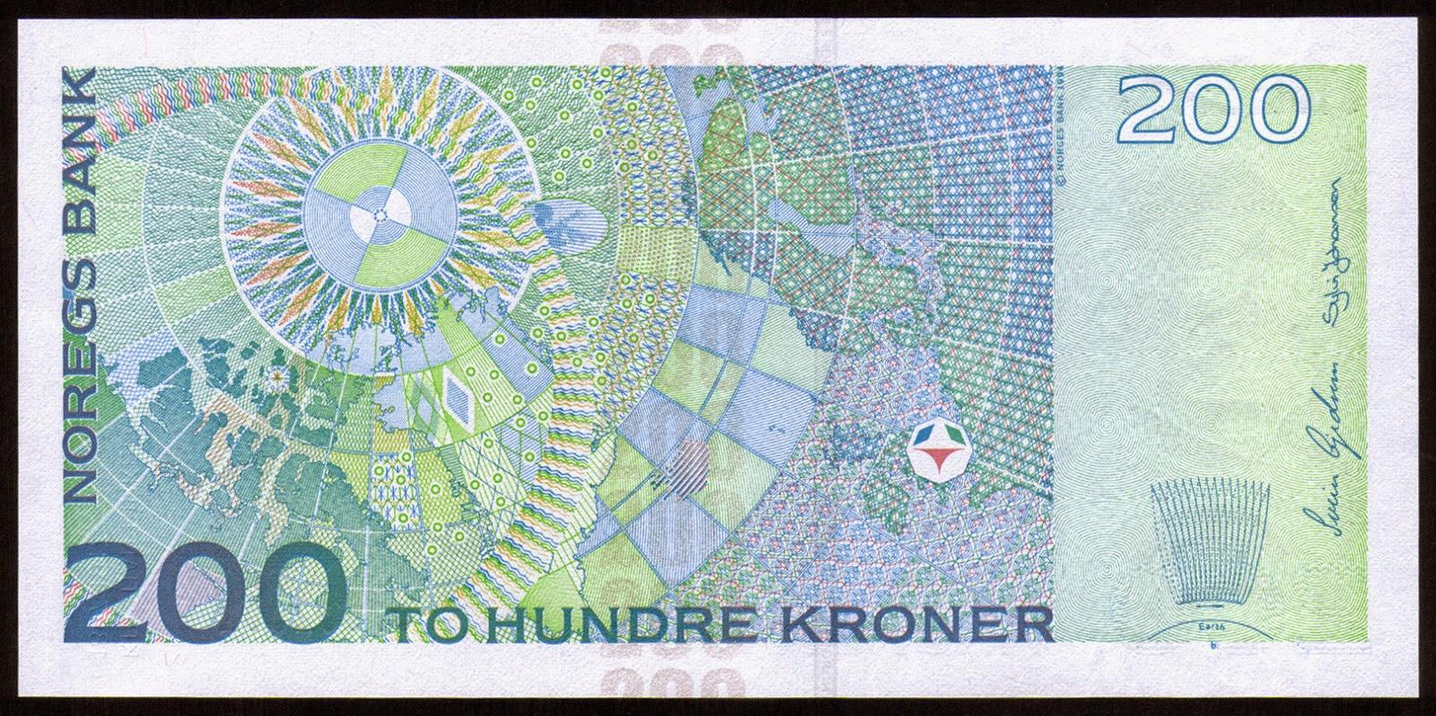 Norwegian Banknotes 200 Norwegian Kroner note