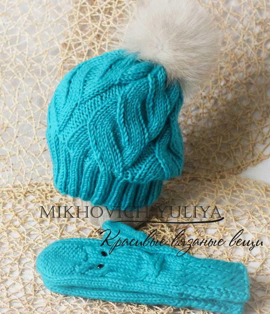 Knit & Crochet КРАСИВЫЕ ВЯЗАНЫЕ ВЕЩИ: Описание шапки с ...