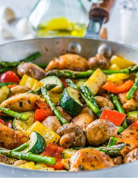 One Pan Italian Chicken Skillet Recipe