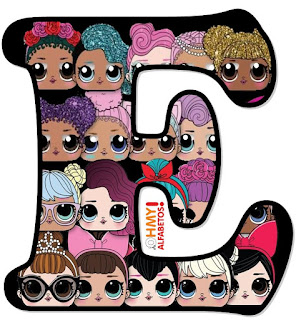 Abecedario con Caras de LOL Surprise. LOL Surprise Faces Alphabet.
