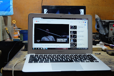 Service Macbook Air mati total di malang