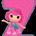 Abecedario Rosado Lalaloopsy. Pink Alphabet Lalaloopsy.