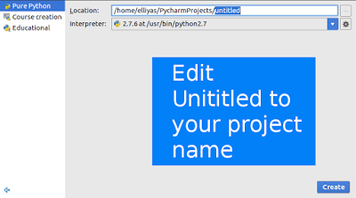 Create python project name