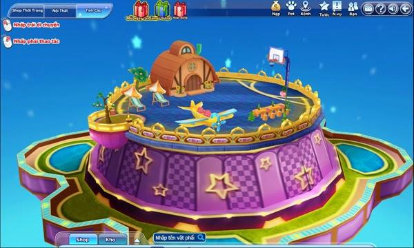 Người chơi có thể tiến hành sắp xếp nội thất bên trong, hoặc cho lắp đặt  thêm các phương tiện giải trí ở phía trước sân nhà như một số trò chơi ...