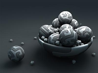 Wallpaper Tazón lleno de bolas Bowl full of balls
