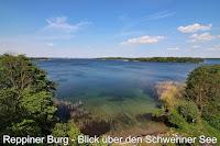 Reppiner Burg Schwerin, Blick über den Schweriner See