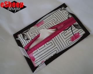 Wet Wipe Wallet in Waxcloth by eSheep Designs