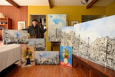 Clameli apresenta seus novos trabalhos para Ana Colla