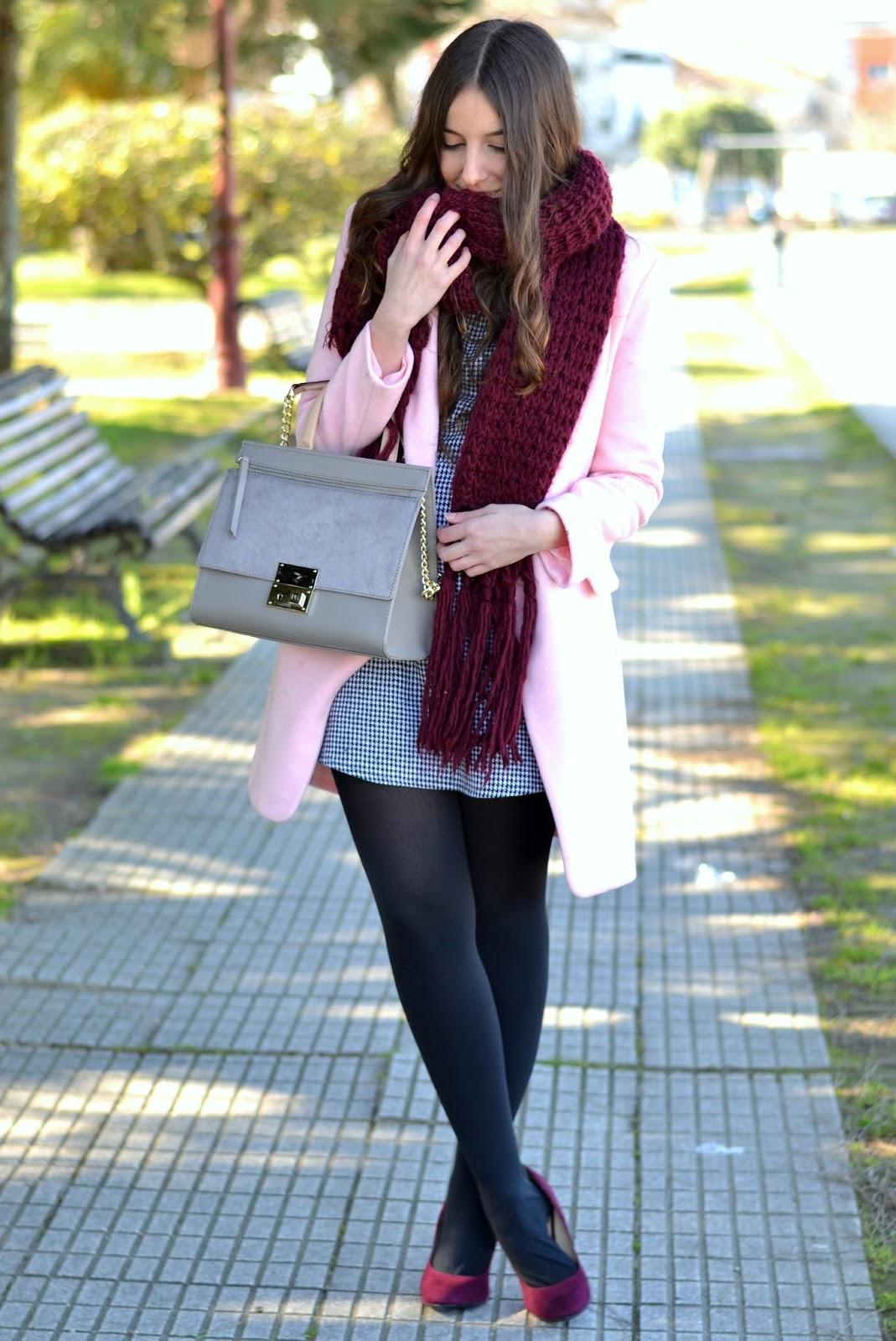 Pink coat choies
