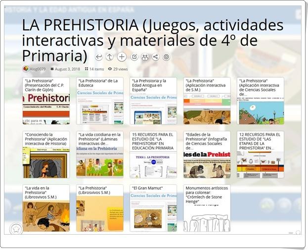 """""""14 Juegos, actividades interactivas y materiales para el estudio de LA PREHISTORIA en 4º de Primaria"""""""