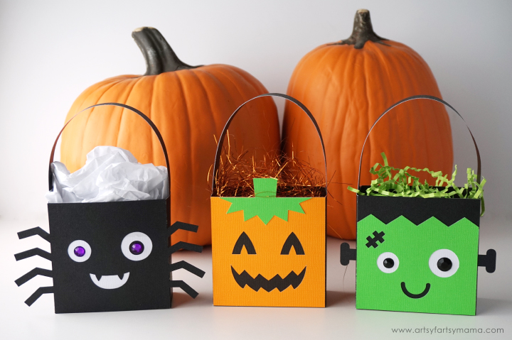 Halloween Character Treat Bags made with Cricut Maker #CricutMade