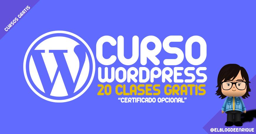 curso wordpress 2016 gratis