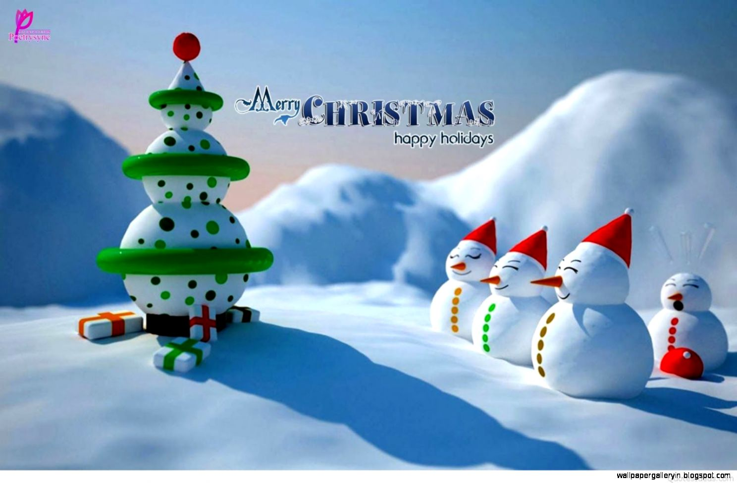Merry Christmas Holiday Wallpaper
