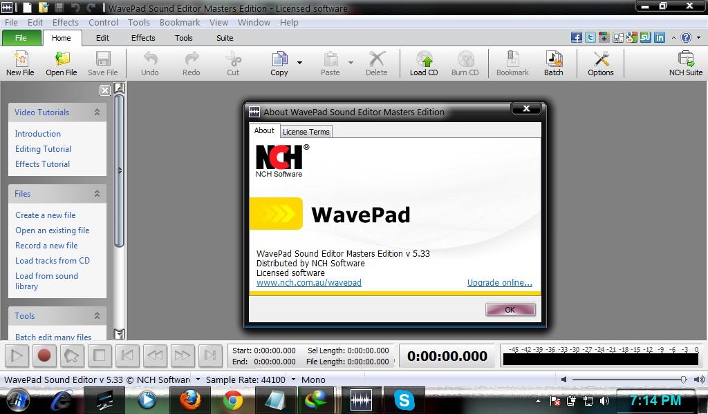 wavepad serial key
