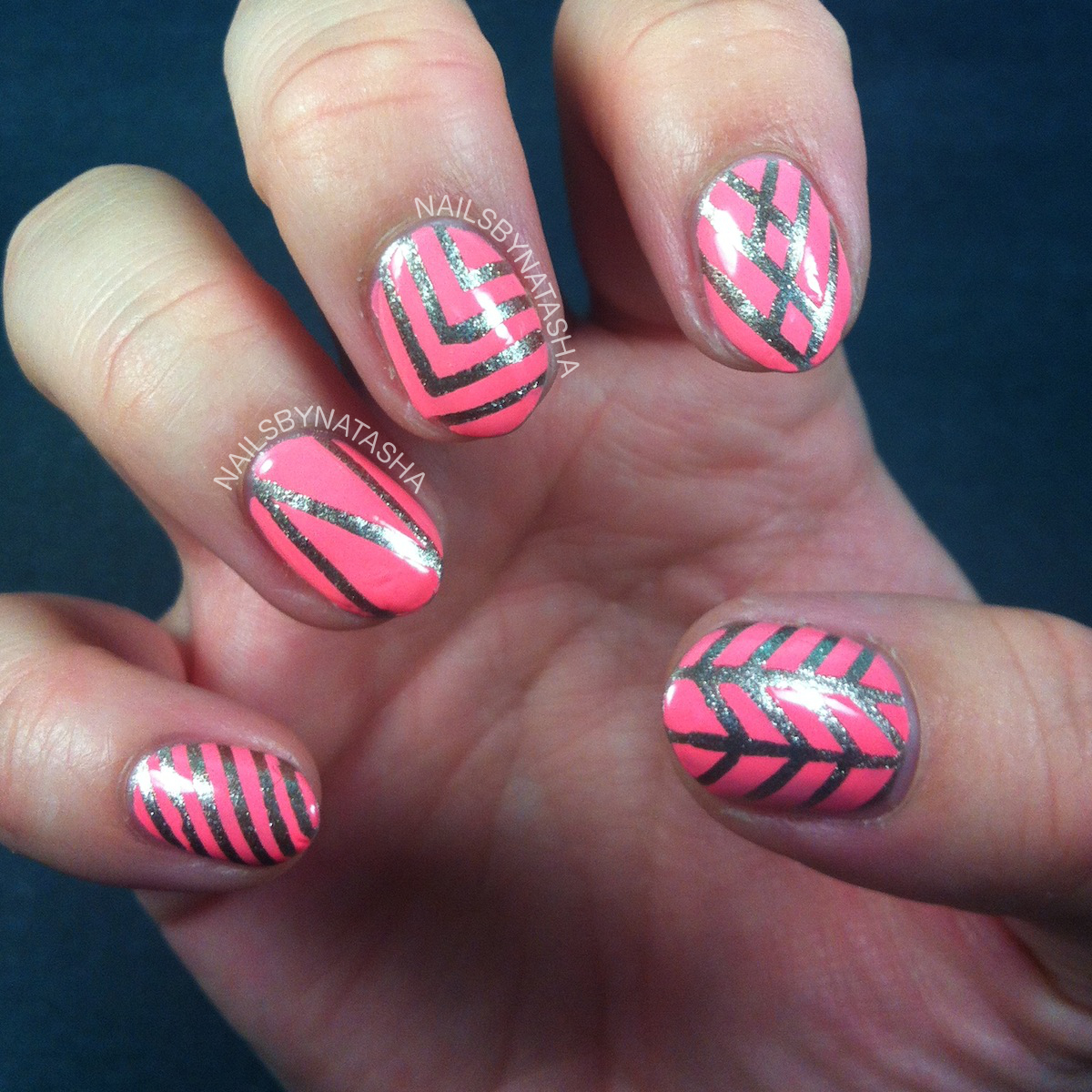 Nail Art Designs Using Striping Tape - To Bend Light