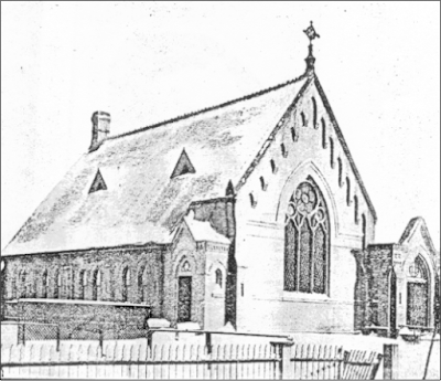The second church building, dedicated in 1889, was on Selkirk Avenue. Image courtesy of the City of Winnipeg Historical Report.