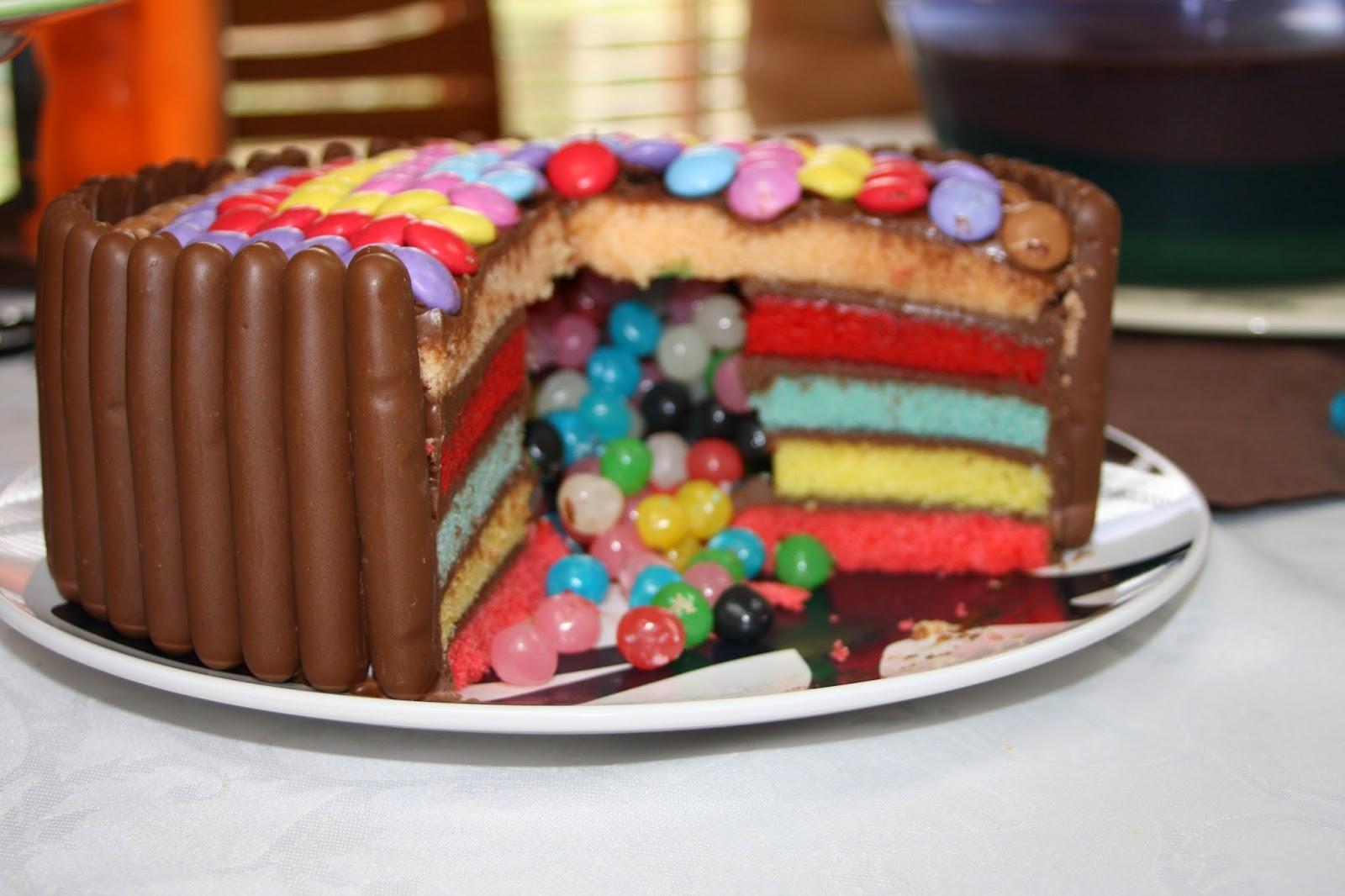 Raimbow Cake Au Chocolat