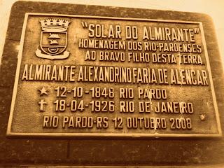 Placa em Frente ao Museu Histórico de Rio Pardo