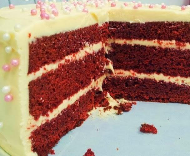 tarta red velvet (tarta terciopelo rojo)