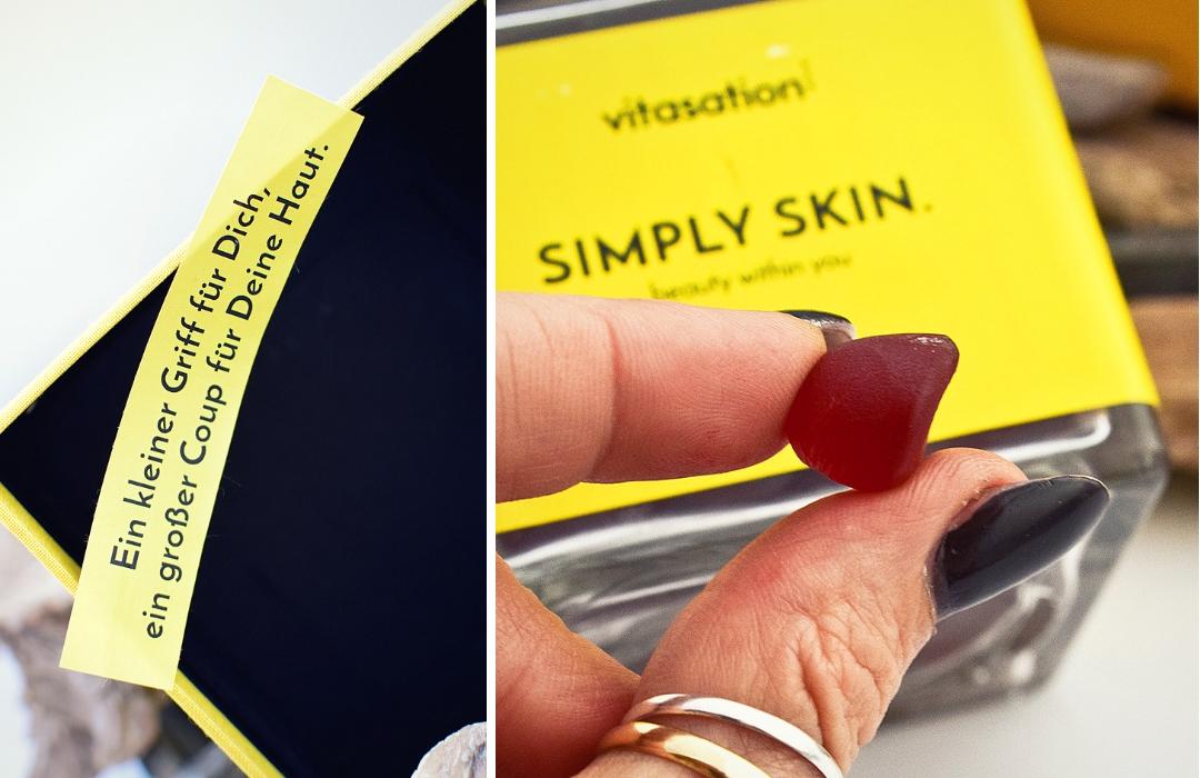 Simply Skin von vitasation Nahrungsergänzung in Fruchtgummi Form