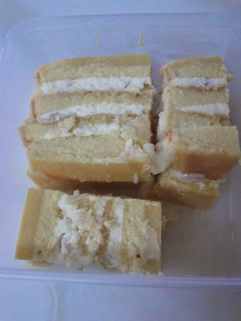 Rectangle Vanilla Sponge Cake Recipe