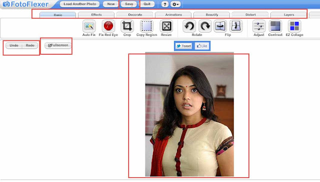FotoFlexer make online pictures