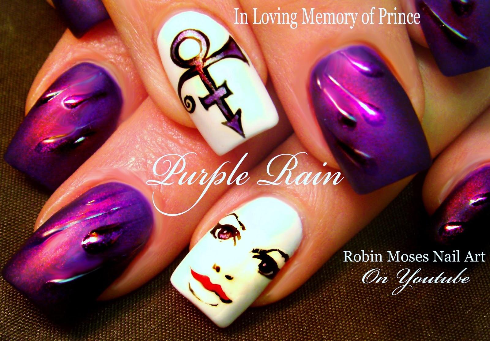 Nail Art by Robin Moses: Prince Nail Art \