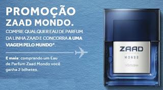 Promoção O Boticário 2017 Perfume Zaad Mondo Viagem Amigos Pelo Mundo