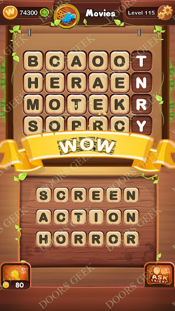Word Bright Level 115 Answers, Cheats, Solutions, Walkthrough for android, iphone, ipad and ipod