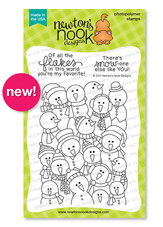 Frozen Fellowship | Large Snowman Stamp Set by Newton's Nook Designs #newtonsnook