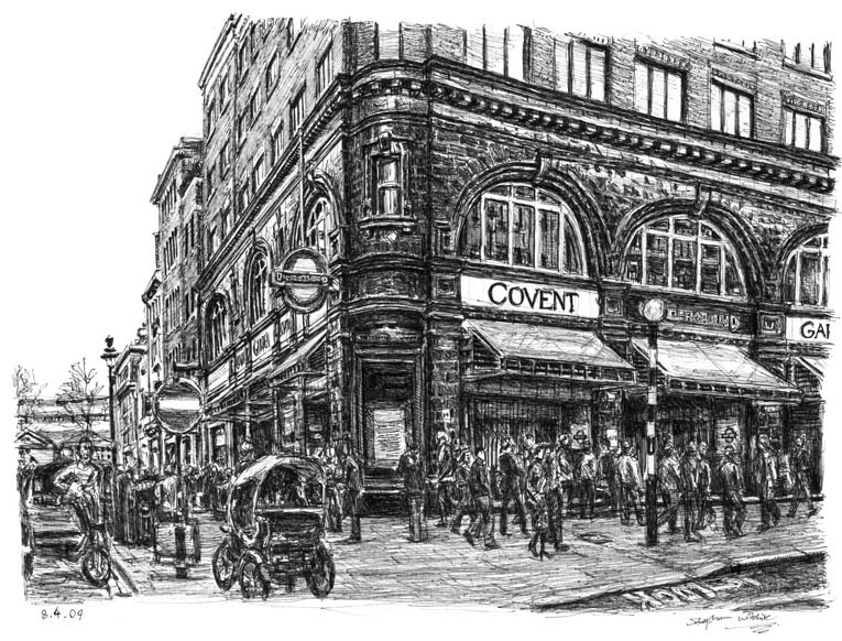 14-Covent-Garden-Station-London-Stephen-Wiltshire-Urban-Drawings-from-Memory-with-Detailed-Cityscapes-www-designstack-co