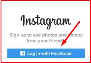 Instagram Login Through Facebook