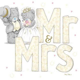 Me to You Bears Free Printable Mr. And Mrs. Sign