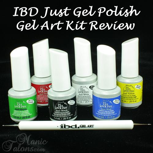 Manic Talons Nail Design: IBD Just Gel Polish Gel Art Kit