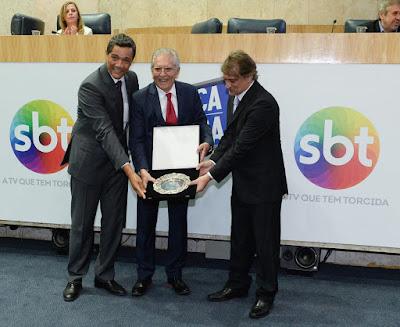Vereador Reis, Carlos Alberto e Marcelo de Nóbrega (Crédito: Francisco Cepeda/SBT)