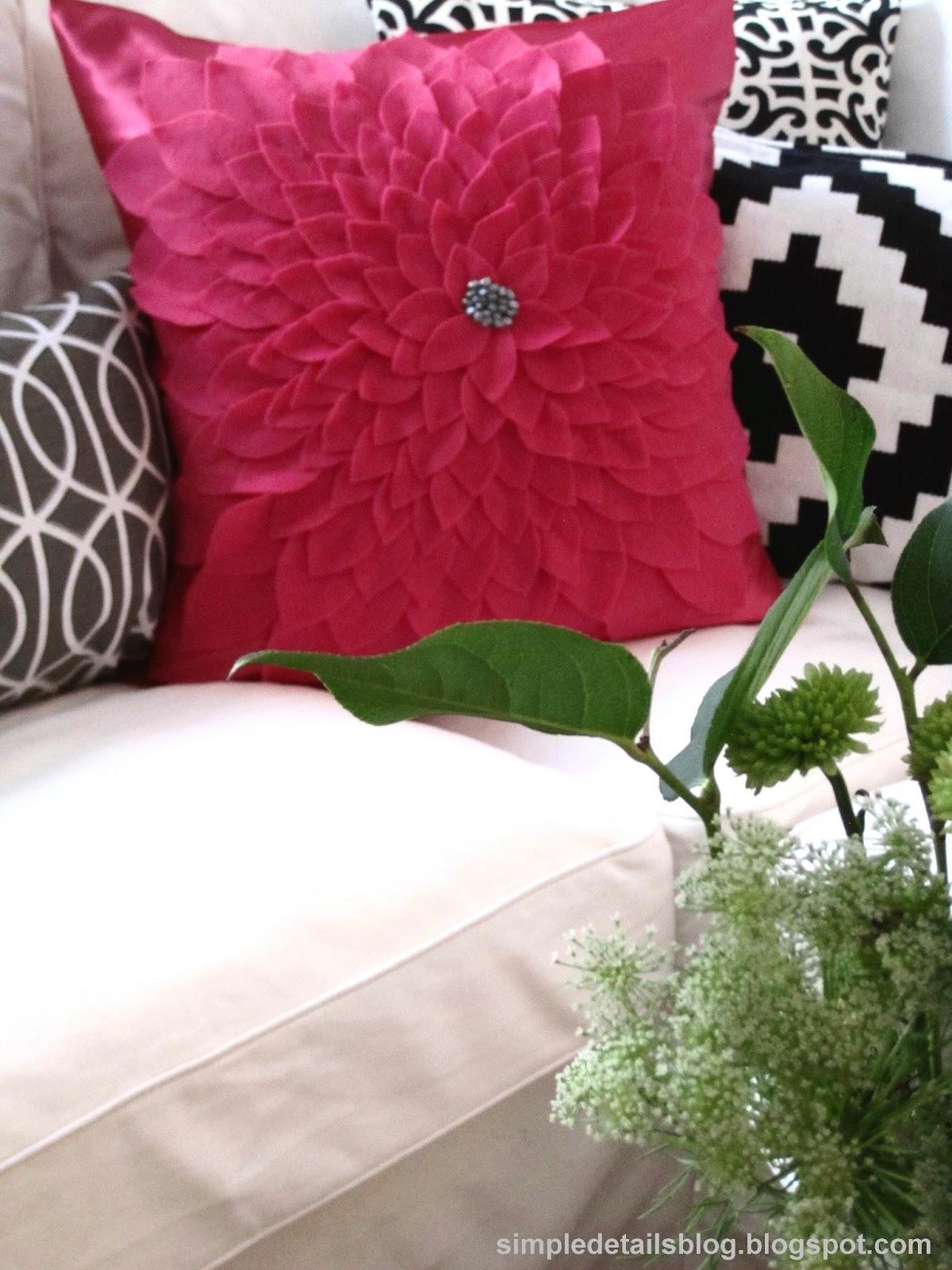 Simple Details Diy Flower Petal Pillow