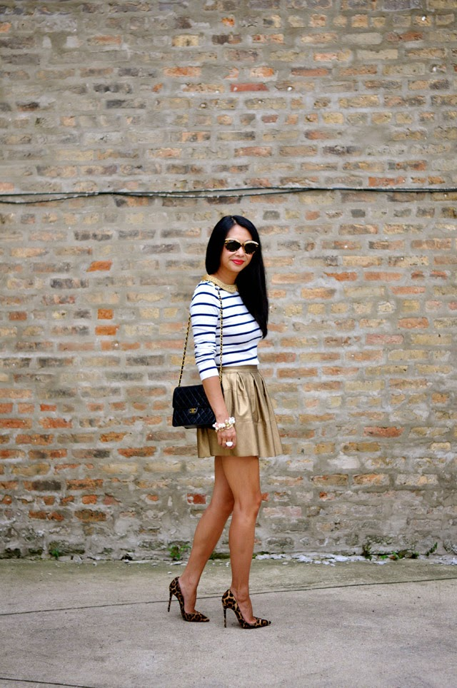 Boden Stripe Top Asos skirt