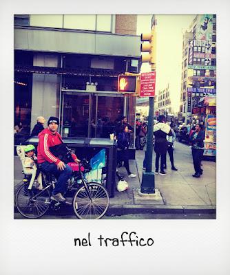 Bambini a New York in bici