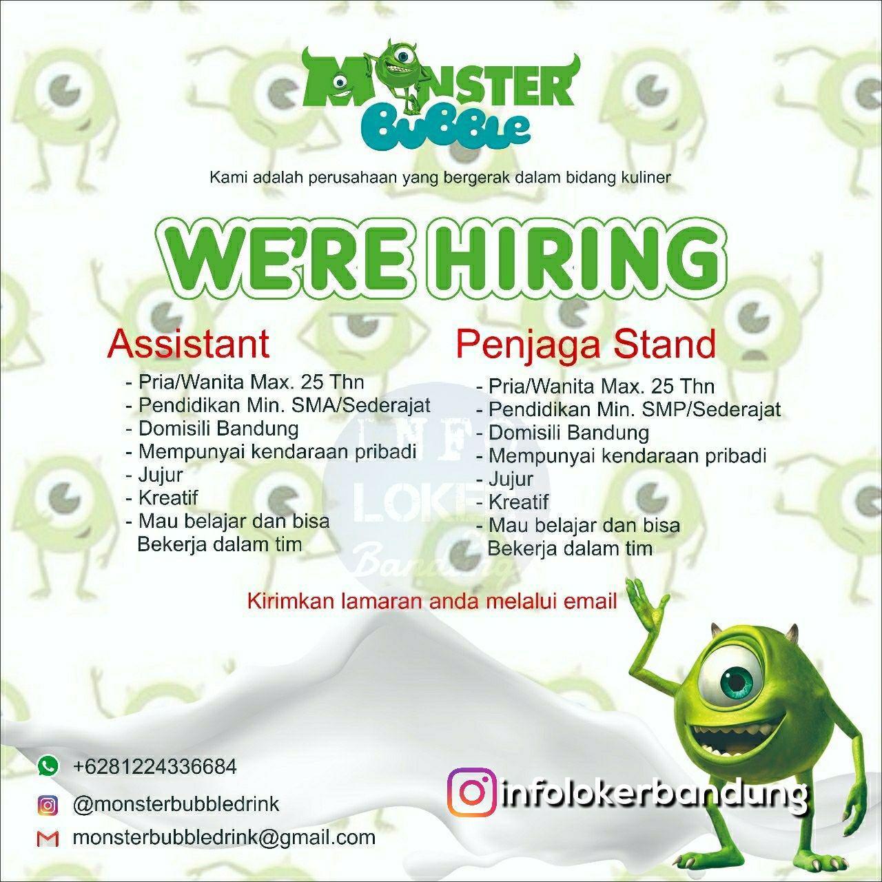 Lowongan Kerja Monster Bubble Bandung Juli 2018