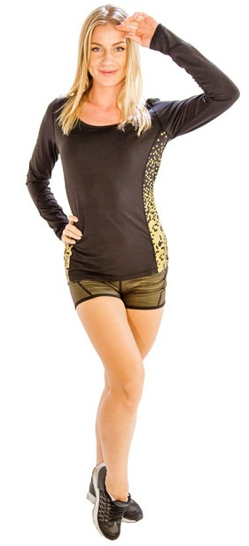 Glossy Stylish Fitness Shorts