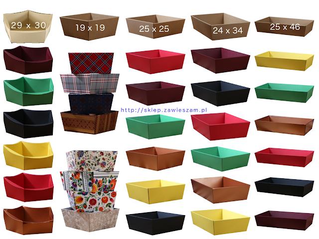 Kolorowe koszyki na prezenty