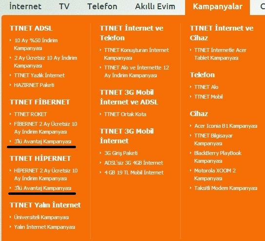 TTNET&Türk Telekom Altyapı Rezaleti ve 3'lü Avantaj Kampanyası